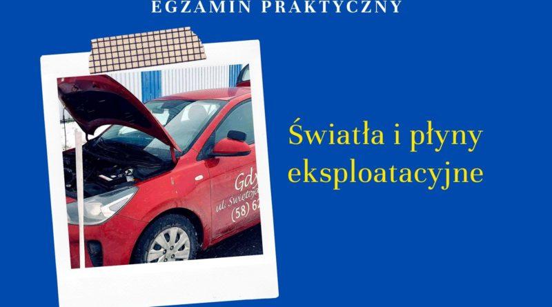 obsługa pojazdu egzamin